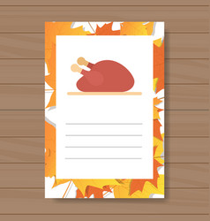 Happy thanksgiving day logo autumn traditional vector