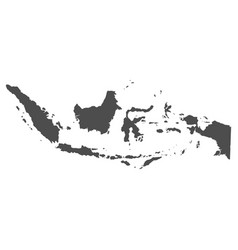 high quality map indonesia with borders the vector image