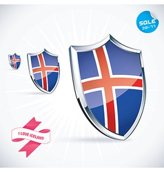 I Love Iceland Flag vector