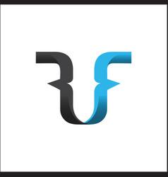 Initial letter rf design logo vector