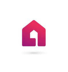 letter a real estate house logo icon design vector image
