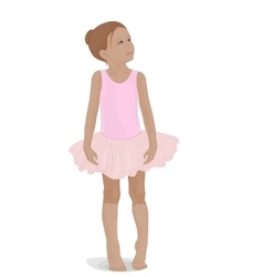 Little ballerina in a pink tutu vector
