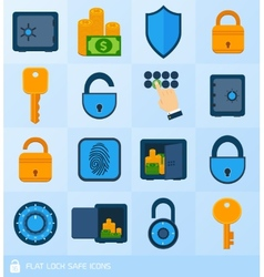 Lock safe elements vector image