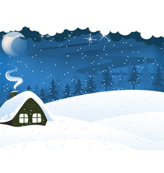 Lonely forest hut vector