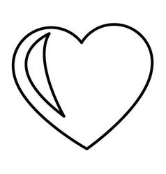 Love heart romence adorable symbol vector