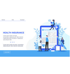 male doctor patient sign health insurance contract vector image