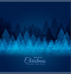Merry christmas festival background with xmas tree vector