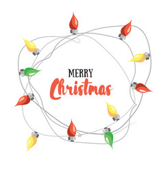 merry christmas greetin card vector image