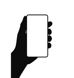 mobile phone in hand symbol vector image