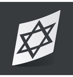 Monochrome Star of David sticker vector image