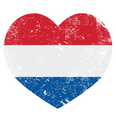 netherlands holland heart retro flag vector image
