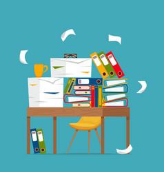 office workplace interior cartoon design vector image