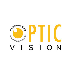 optic vision logo vector image
