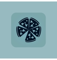 Pale blue pizza icon vector