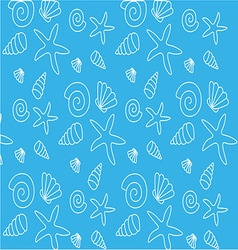 Pattern with shells vector