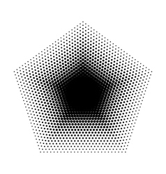 Pentagon halftone geometric shapes five vector