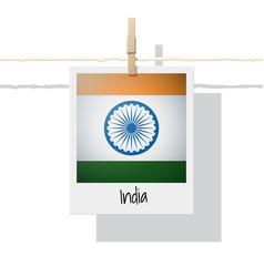 Photo of india flag vector