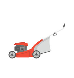 Red lawnmower vector