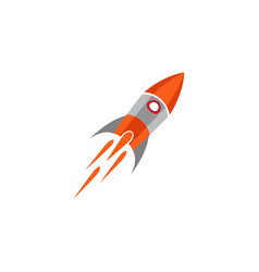 rocket design template icon vector image