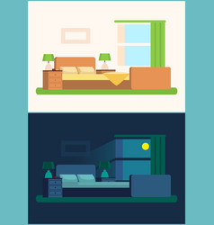 room interior bedroom set vector image