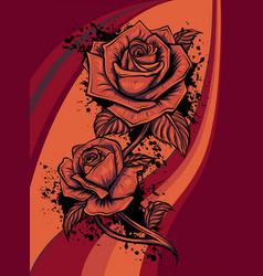 rose flower design beautiful rose flower vector image