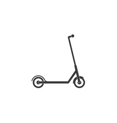 scooter transportation icon vector image