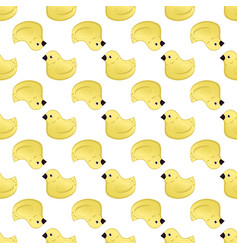 seamless pattern with ducklings cute backdrop for vector image