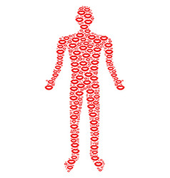 sexy lips person figure vector image