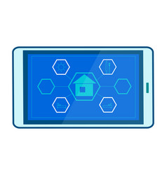 smart home mobile app flat vector image