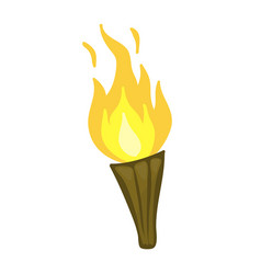 torch isolated vector image