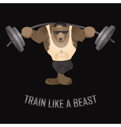 Train like a beast vector image