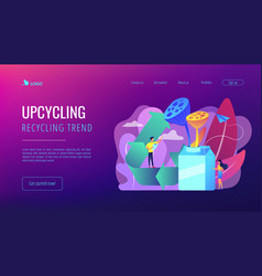 upcycling concept landing page vector image