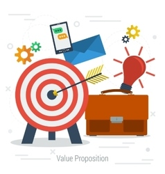 Value proposition concept vector