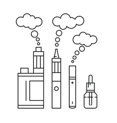 vape e cigarette set vector image