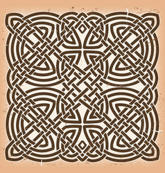 vintage grunge celtic mandala background vector image