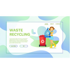 volunteers cleaning up environment flat vector image