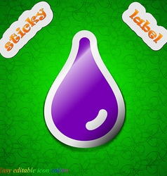 Water drop icon sign Symbol chic colored sticky vector