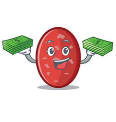 With money salami mascot cartoon style vector