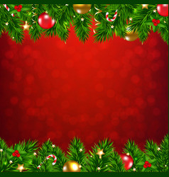 Xmas garland with christmas balls and decorations vector