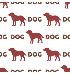 year of the dog pattern symbol of 2018 seamless vector image