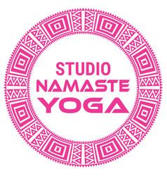 yoga name of yoga studio on a vector image