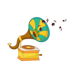 A view of gramophone vector image