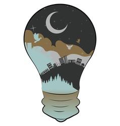 City in a Lightbulb2 vector image