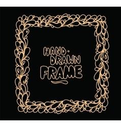 Hand drawn square frame design vector