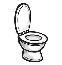 Toilet seat vector image vector image