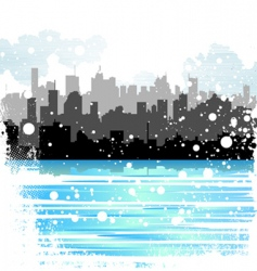 winter city vector image vector image