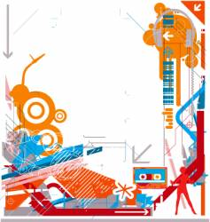 abstract DJ music background vector image vector image