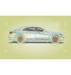Car drawn for the business booklet vector image vector image