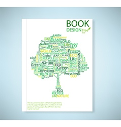 Cover report stylized tree eco and icon vector image
