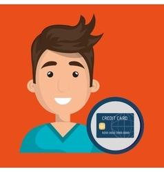 man credit card money vector image